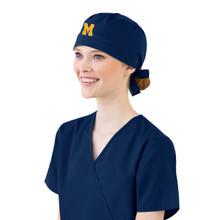 University of Michigan Navy Scrub Cap for Women
