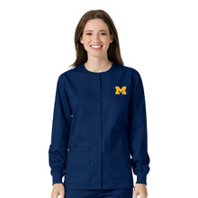 University of Michigan Navy Warm Up Nursing Jacket