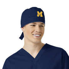 University of Michigan Navy Scrub Cap for Men