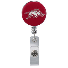 University of Arkansas Razorbacks Retractable Badge Reel - Licensed Badge Reel