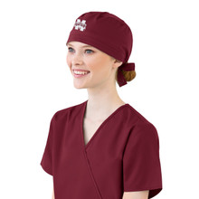Mississippi State Maroon Scrub Cap for Women