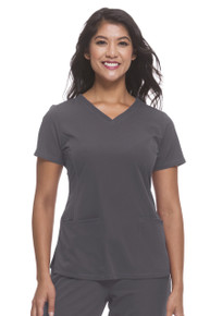 Healing Hands Monica Scoop Neck Solid Scrub Top*