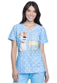 The Secret Life of Pets Scrub Top For Women