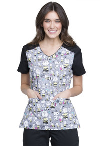 Charlie Brown Scrub Top for Women