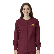 University of Minnesota- Golden Gophers Maroon Warm Up Nursing Scrub Jacket