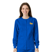 Pitt Panthers Warm Up Nursing Scrub Jacket for Women
