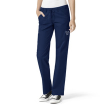 Villanova Wildcats Navy Women's Straight Leg Cargo Scrub Pants