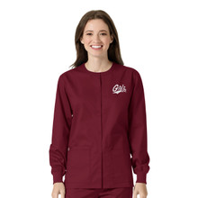 University of Montana Grizzlies Warm Up Nursing Scrub Jacket for Women