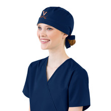 Virginia Cavaliers Navy Scrub Cap for Women