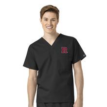 Rutgers Scarlet Knights Men's V Neck Scrub Top*