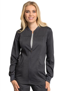 Cherokee Revolution Tech Antimicrobial with Fluid Barrier : Snap Front Warm Up Jacket for Women*