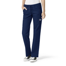 Gonzaga Bulldogs Navy Women's Straight Leg Cargo Scrub Pants