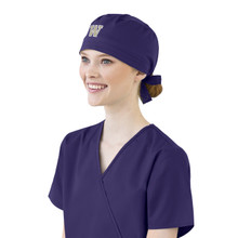 Washington Huskies Grape Scrub Cap for Women