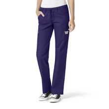 Washington Huskies Grape Women's Straight Leg Cargo Scrub Pants