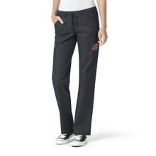 Washington State Cougars Women's Straight Leg Cargo Scrub Pants*