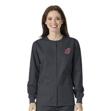 Washington State Cougars Warm Up Nursing Scrub Jacket for Women*