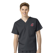 Washington State Cougars Men's V Neck Scrub Top*