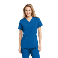 Barco ONE Wellness Antimicrobial : V Neck Front Slit Scrub Top For Women*