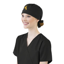 University of Wyoming Cowboys  Black Scrub Cap for Women