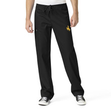 University of Wyoming Cowboys Black Men's Cargo Scrub Pants