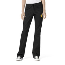 University of Wyoming Cowboys Women's Straight Leg Black Cargo Scrub Pants