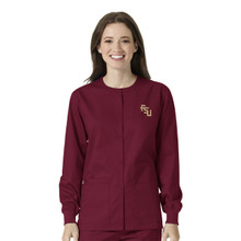 Florida State Seminoles Garnett Warm Up Scrub Nursing Jacket