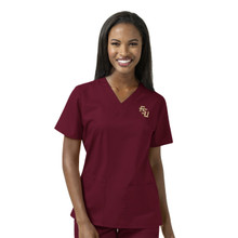 Florida State Garnett Women's V Neck Scrub Top