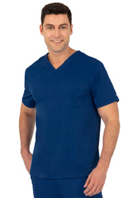 Healing Hands Men's V Neck Scrub Top 2591*