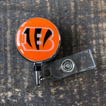 Cincinnati  Bengals Orange Retractable Badge Reel