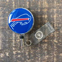 Buffalo Bills Blue Retractable Badge Reel