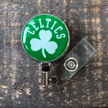 Boston Celtics Green Retractable Badge Reel
