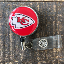 Kansas City Chiefs Red Retractable Badge Reel