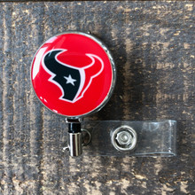 Houston Texans Red Retractable Badge Reel