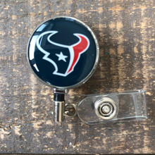 Houston Texans Navy Retractable Badge Reel
