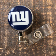 New York Giants Royal Retractable Badge Reel