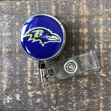 Baltimore Ravens Purple Retractable Badge Reel