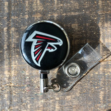 Atlanta Falcons Black Retractable Badge Reel