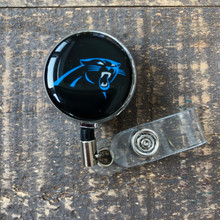 Carolina Panthers Black Retractable Badge Reel