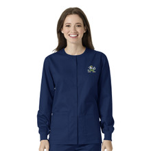 Notre Dame- Fighting Irish Navy Warm Up Nursing Scrub Jacket