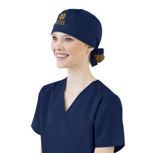 Notre Dame Fighting Irish Navy Scrub Cap for Women gold logo