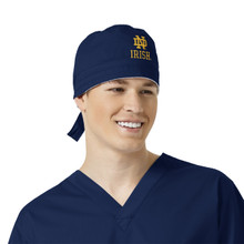 Notre Dame Fighting Irish Navy Scrub Cap for Men gold logo