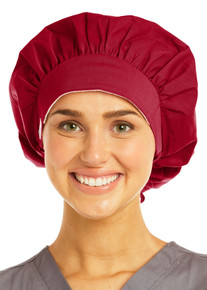 Adjustable Raspberry Colored Bouffant Scrub Cap - In Stock!