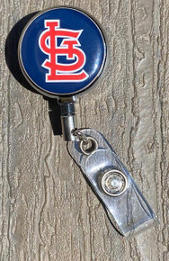 St. Louis Cardinals Navy Retractable Badge Reel