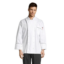 Provence Executive  Chef Coat with Black Piping