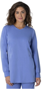 Healing Hands Fatima Long Sleeve Solid Scrub Top style 4001*