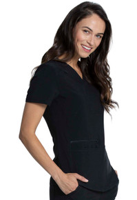 Allura 3 Pocket V-Neck Front Patch Pocket Women's Top style CKA 685*