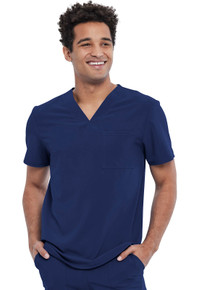 Allura Men's Tuckable V-Neck Scrub Top style CKA 689*