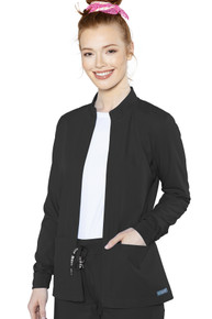 Med Couture Insight style 2660 Women's Front Pocket Warm up Jacket*