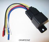 "30 AMP Automotive Relay - 6"" Socket & Pigtial (PLASTIC TAB)"