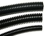 "3/8"" Diameter Split Loom Conduit - Black Nylon"